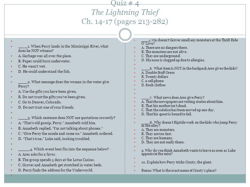 The Lightning Thief Rick Riordan Ppt Video Online Download