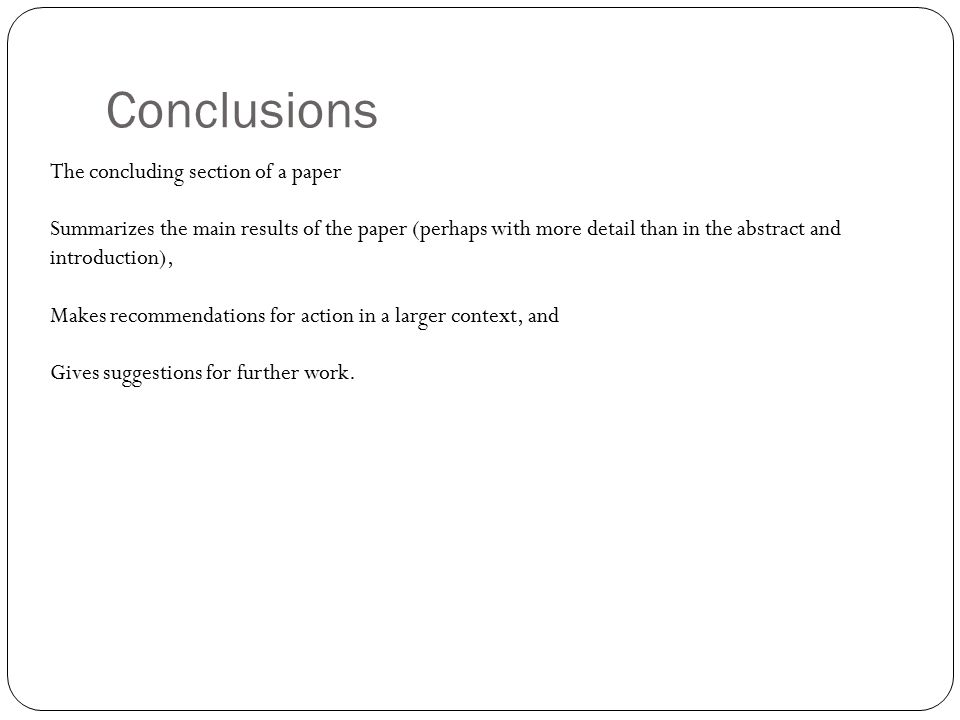 findings section of a research paper