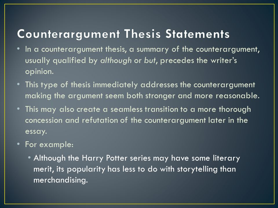 counter argument meaning