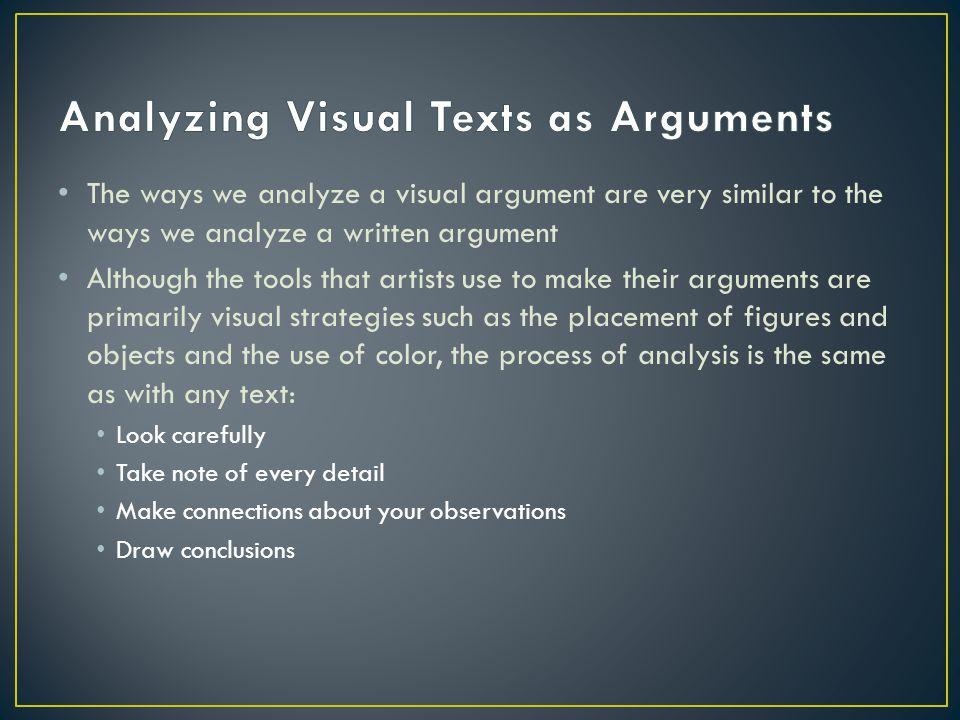 visual argument analysis