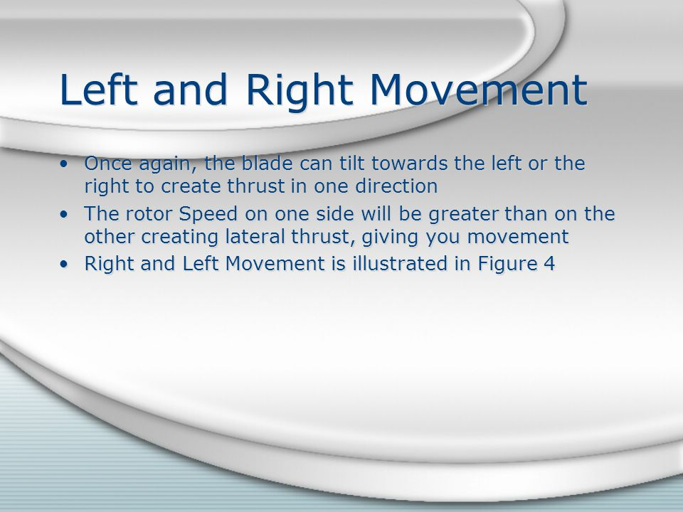 Left and Right Movement