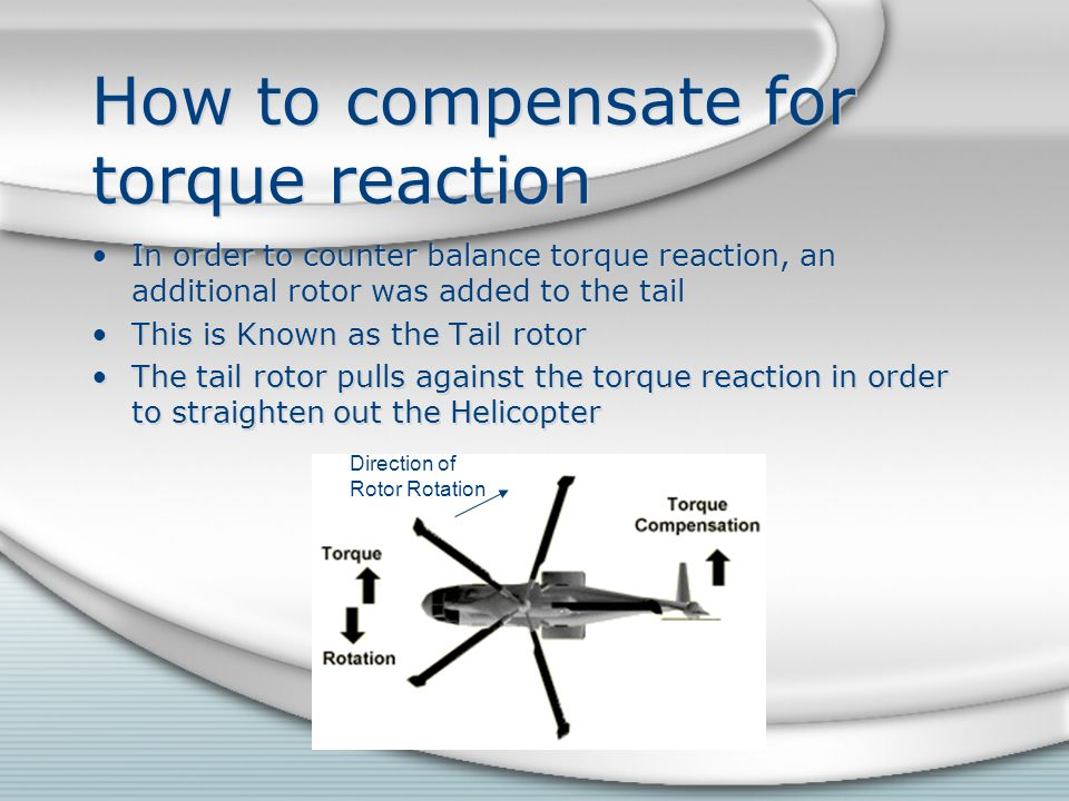 How to compensate for torque reaction