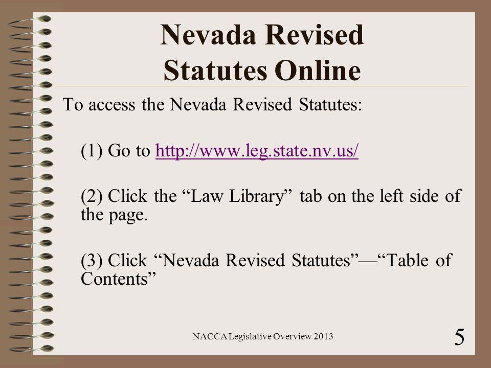 Nevada Revised Statutes >> Legislative Overview 2013 For Limited Jurisdiction Courts Ppt Download