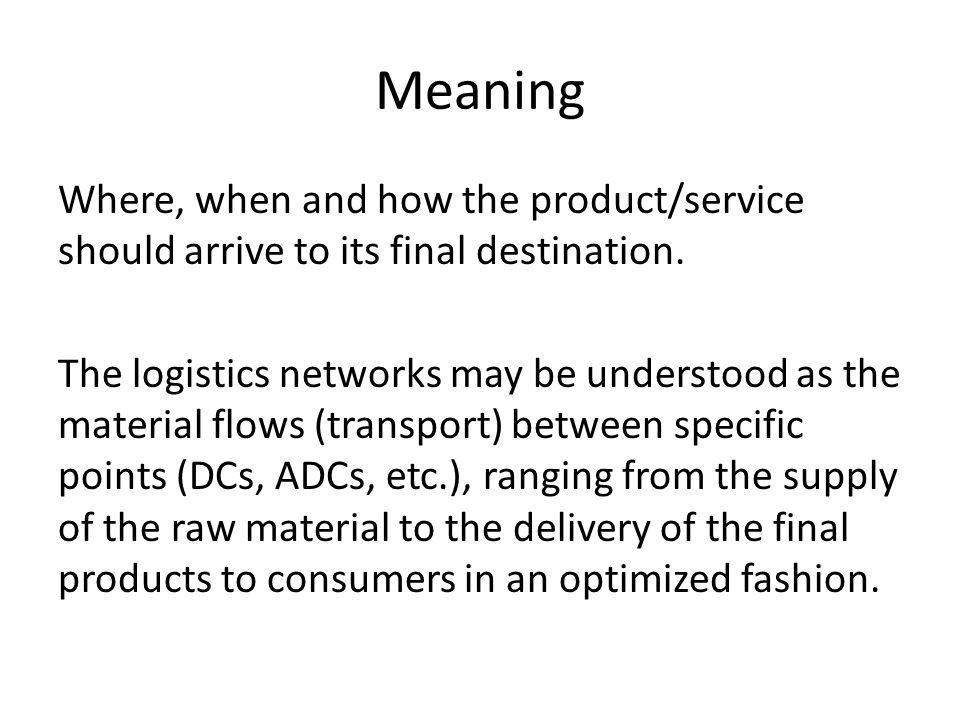Logistics Network Analysis - ppt video online download