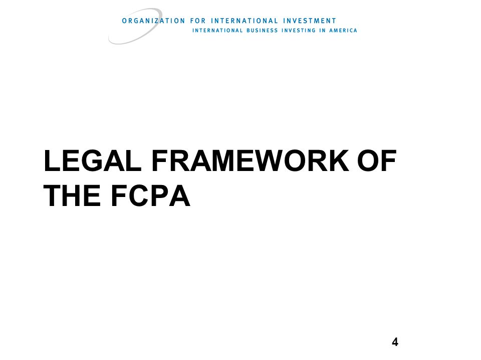 4 legal framework of the fcpa