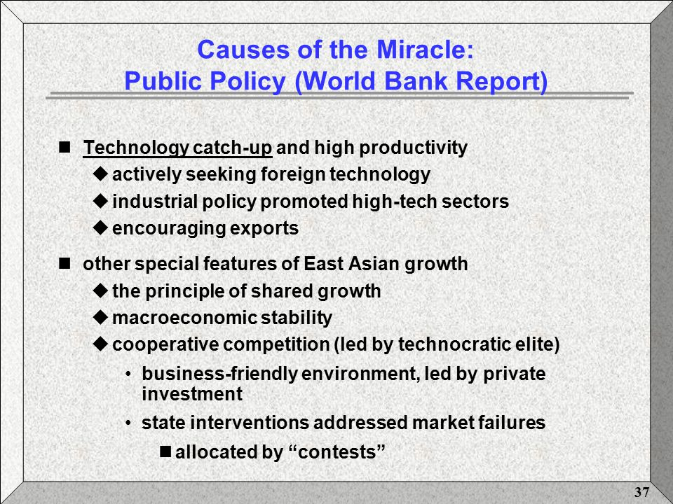 Think, that the east asian miracle world bank