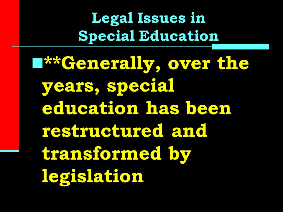 Significant Special Education Legal >> History Of Special Education The Past 60 Years Ppt Video Online