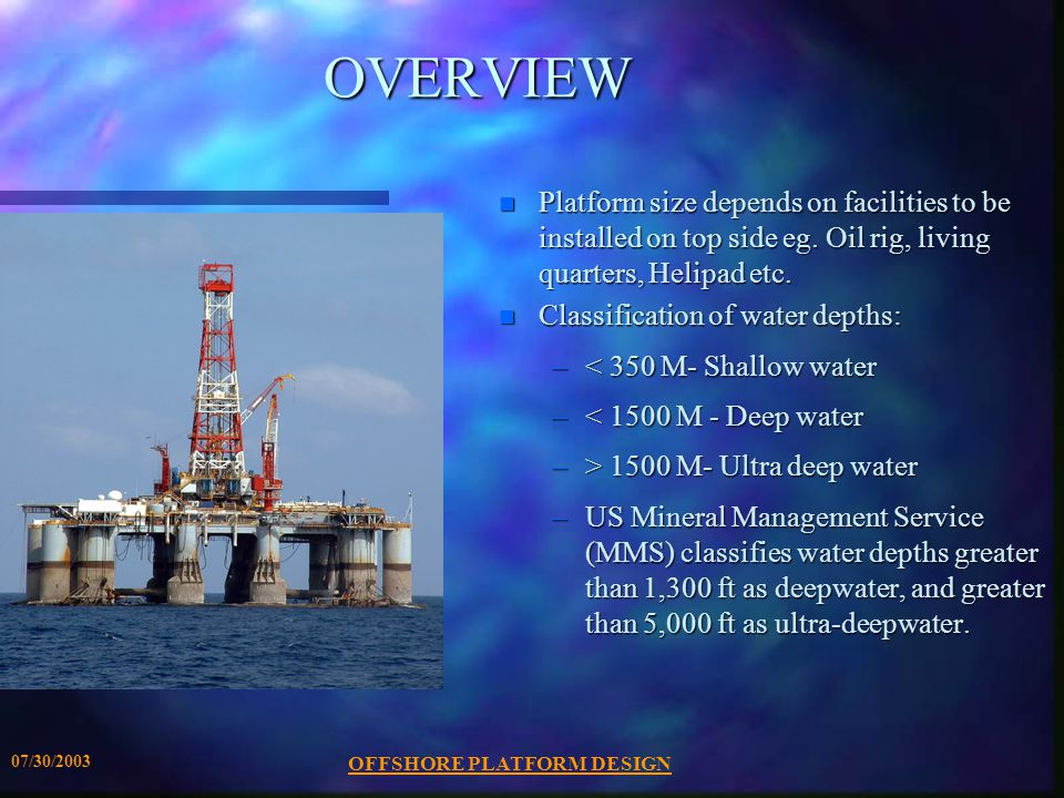 Offshore platform design ppt download offshore platform design toneelgroepblik Images