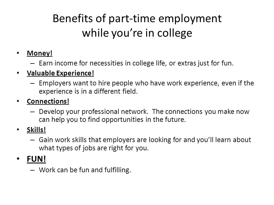 advantages and disadvantages of part time jobs for students ielts