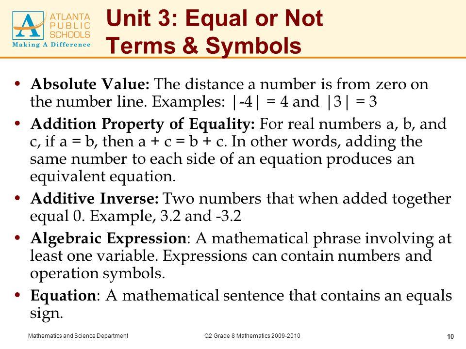Unit 3 Equal Or Not Key Standards Ppt Video Online Download