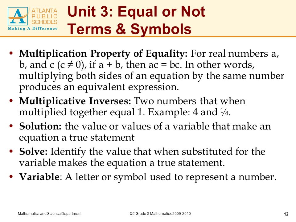Unit 3 Equal Or Not Key Standards Ppt Video Online Download