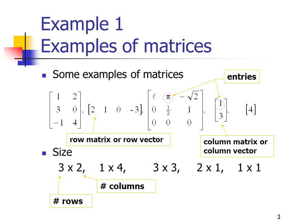1 3 Matrices and Matrix Operations  - ppt video online download