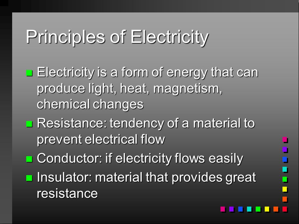 Electrical Principles and Wiring Materials - ppt download