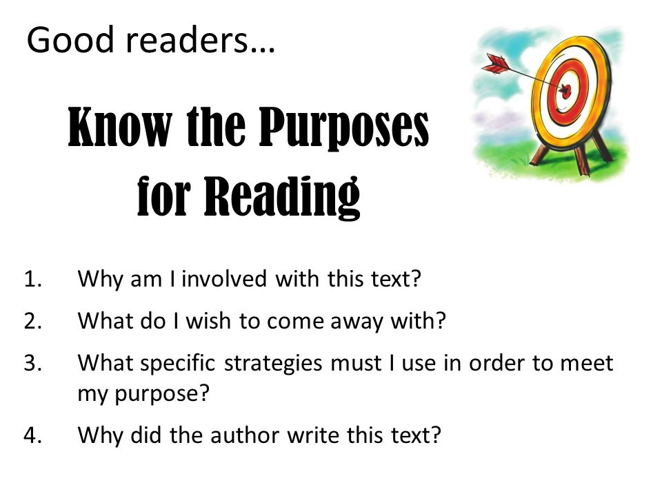 Know the Purposes for Reading