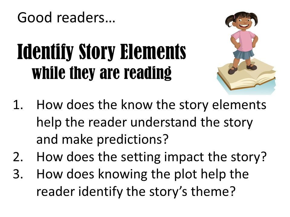 Identify Story Elements while they are reading
