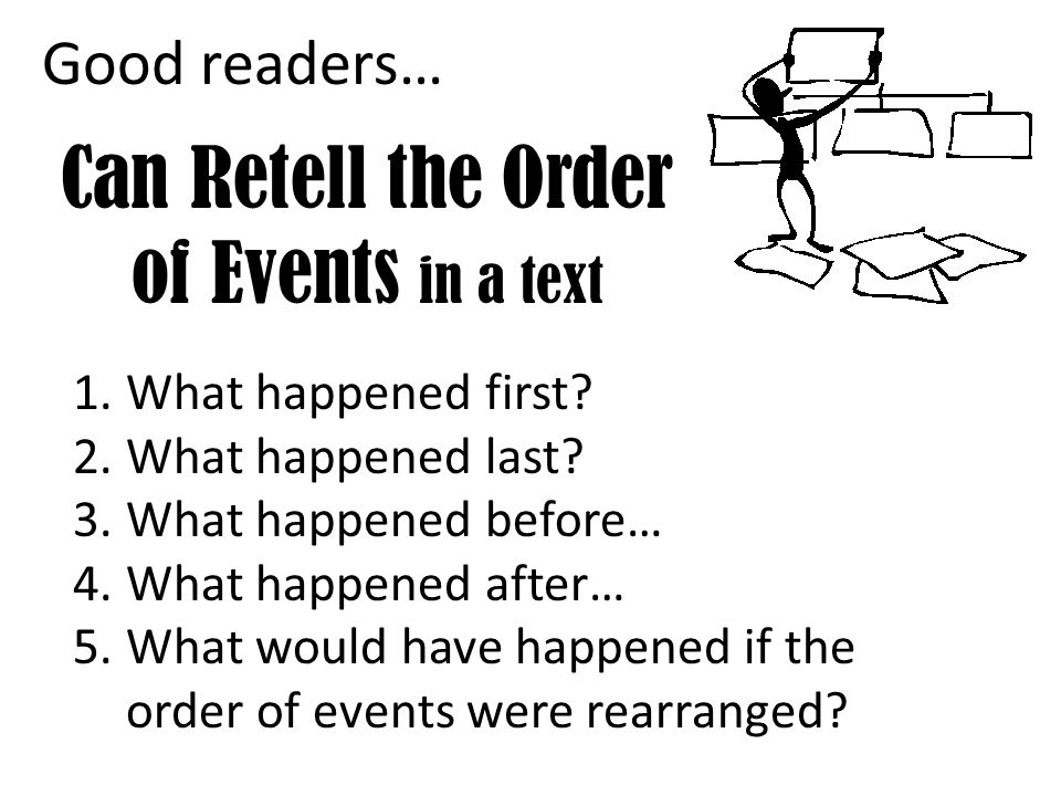 Can Retell the Order of Events in a text