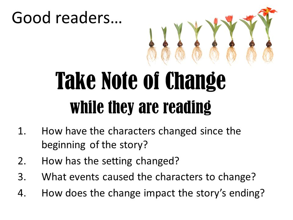 Take Note of Change while they are reading