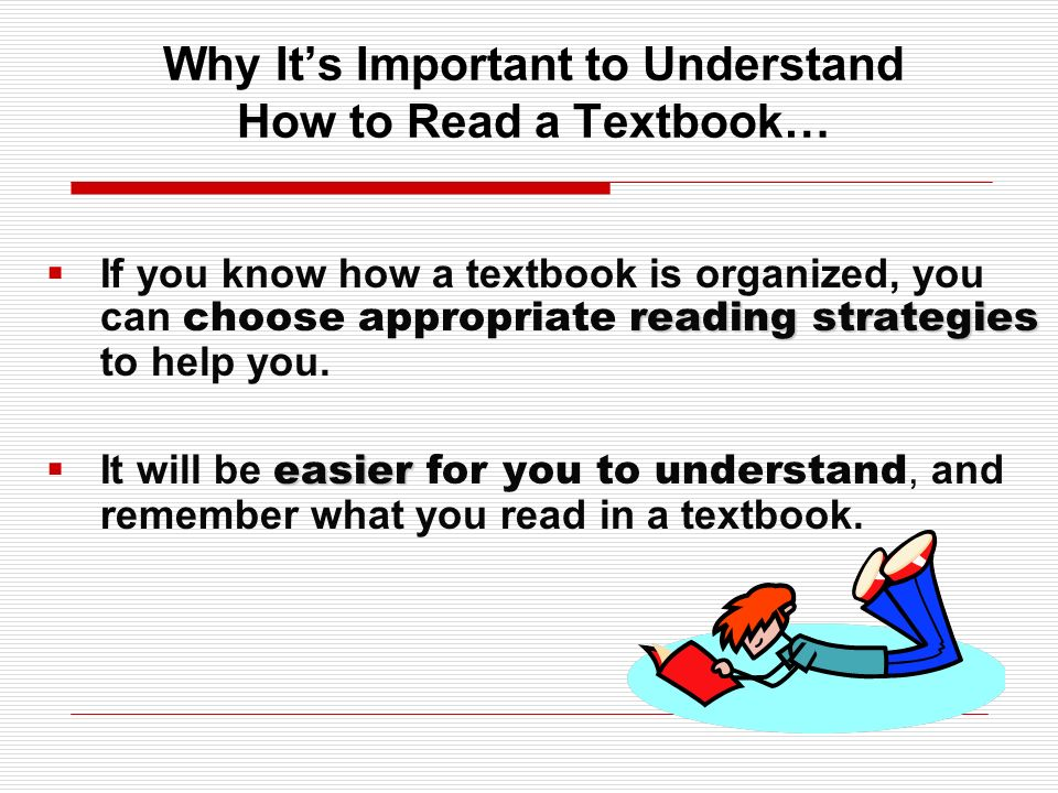 Why It's Important to Understand How to Read a Textbook…