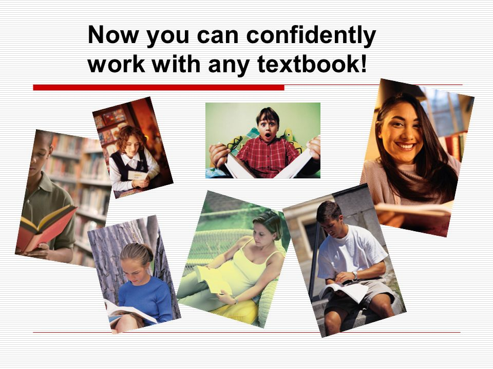 Now you can confidently work with any textbook!
