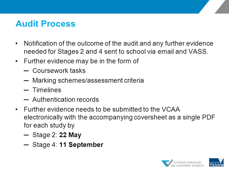 vcaa coursework audit