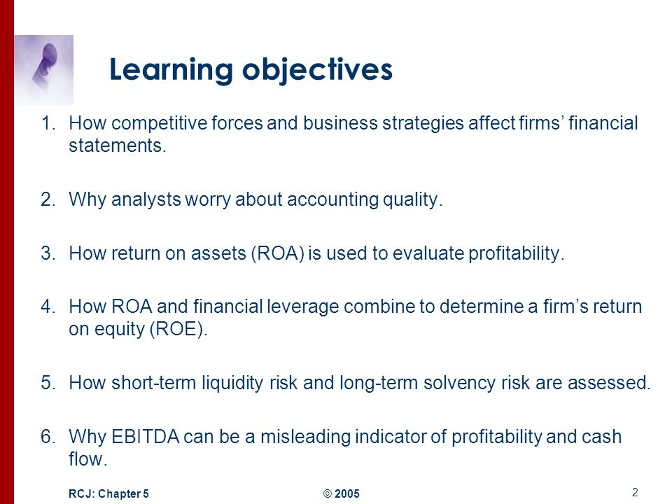 attrayant Learning objectives How competitive forces and business strategies affect  firmsu0027 financial statements.