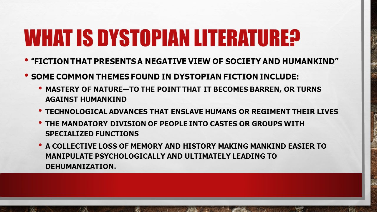 What Is Dystopian Literature