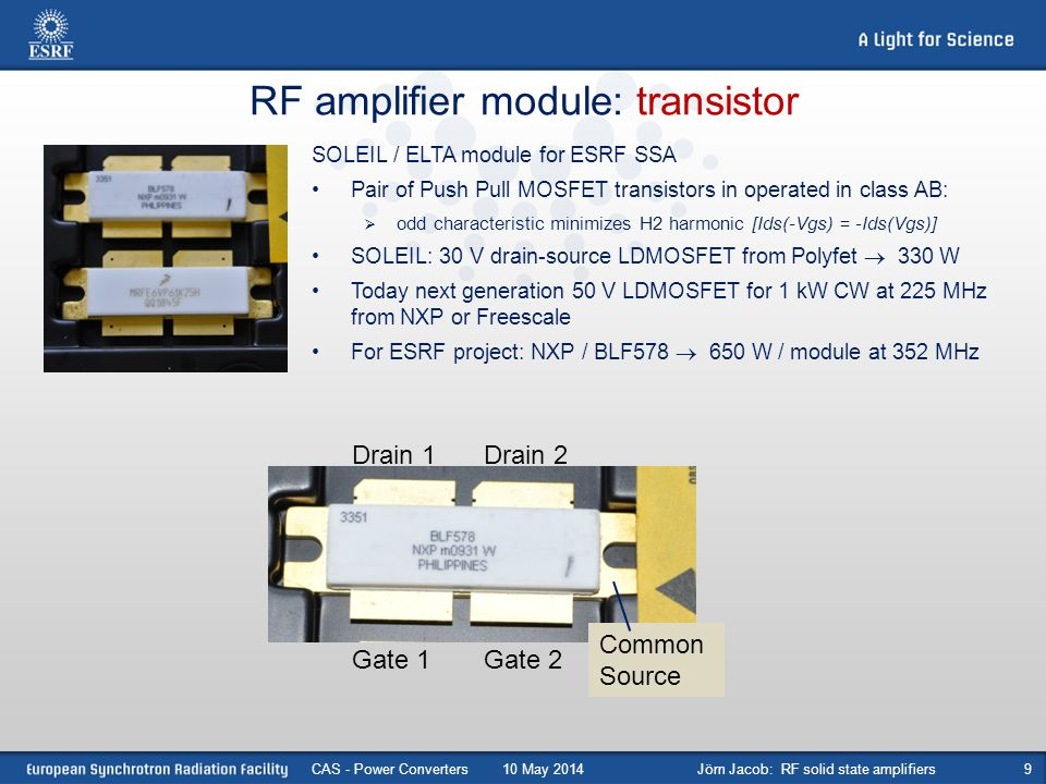 Jörn Jacob: RF solid state amplifiers - ppt video online