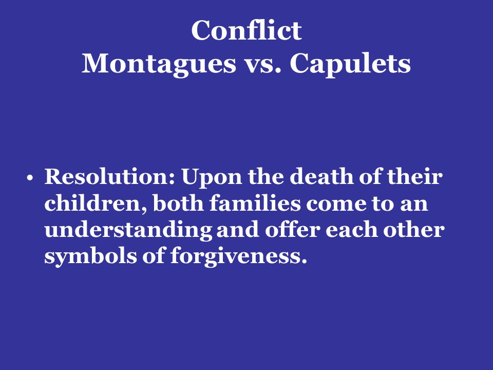 montegues and capulets