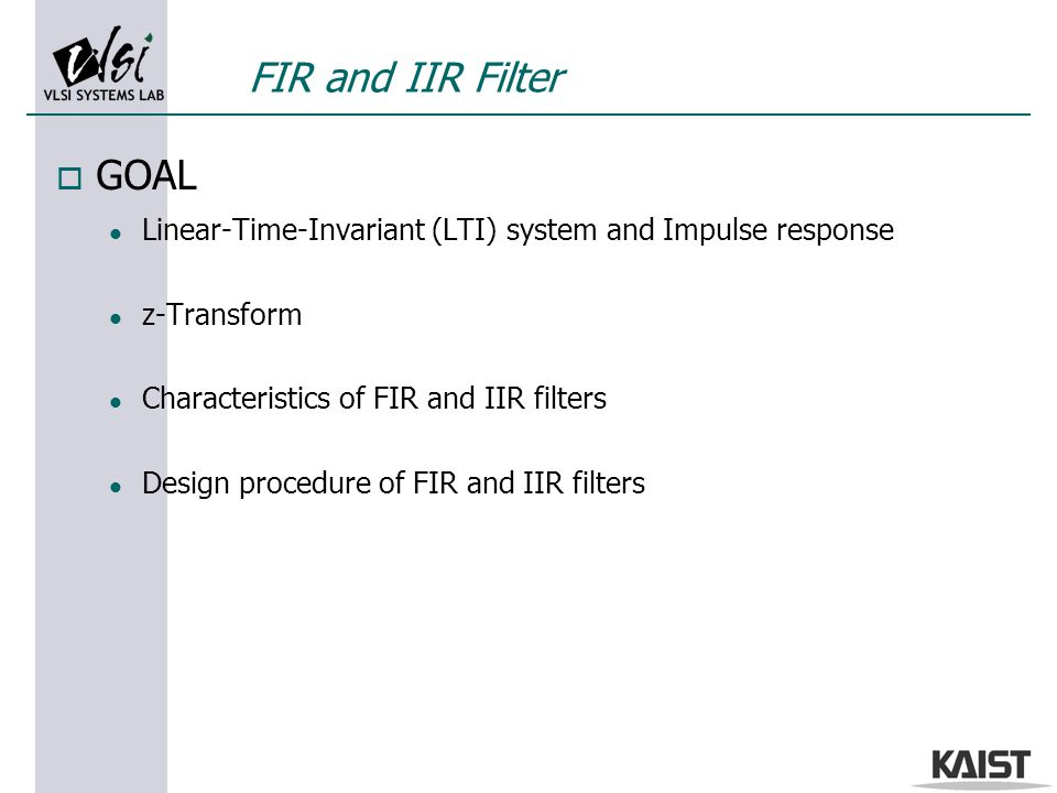 Lecture 9 FIR and IIR Filter design using Matlab - ppt video