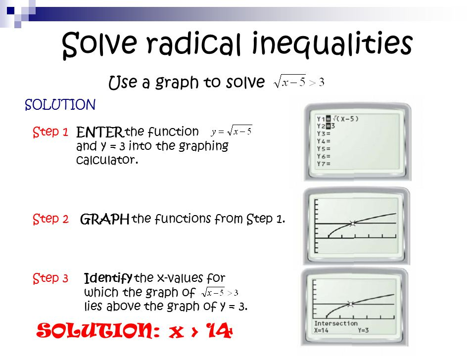 Solving Radical Equations and Inequalities - ppt video ...