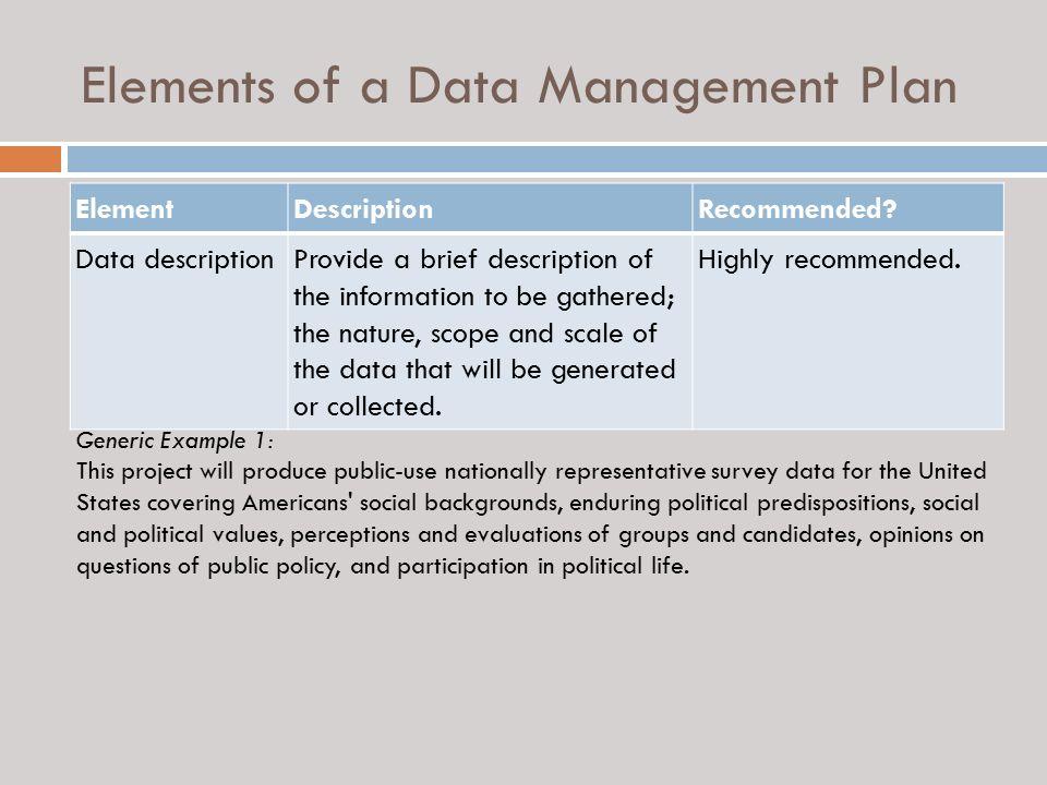 Guidance on Preparing a Data Management Plan - ppt video online download