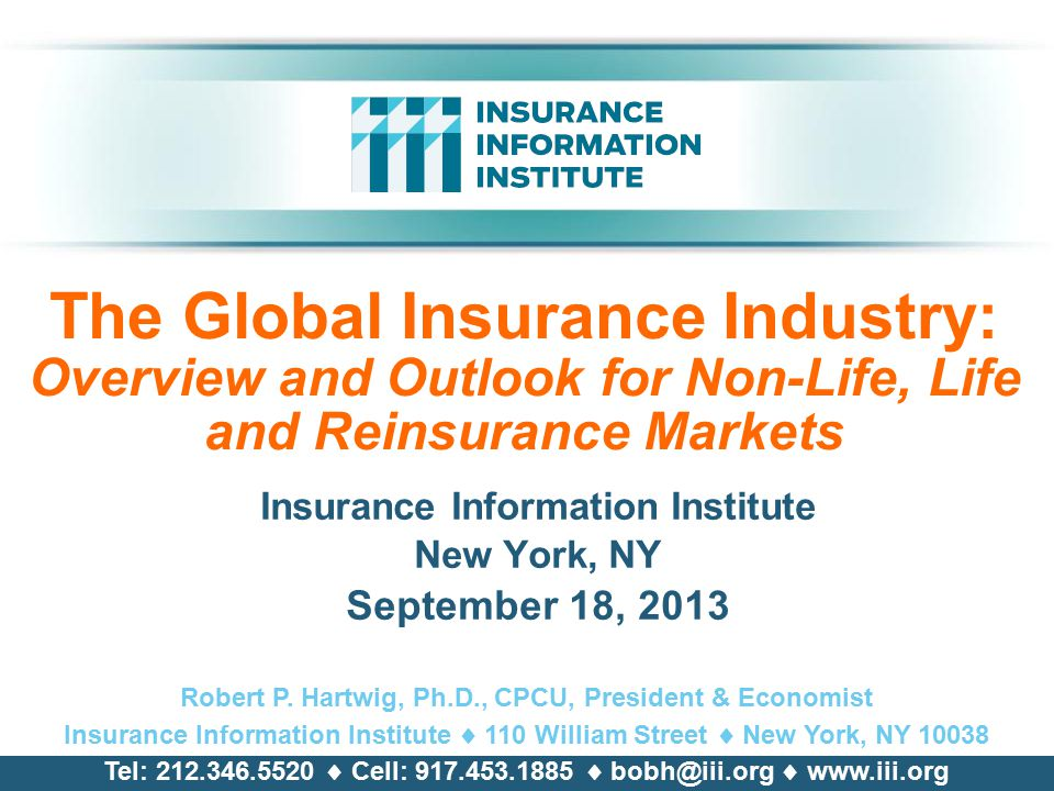 Insurance Information Institute New York Ny September 18 Ppt Download