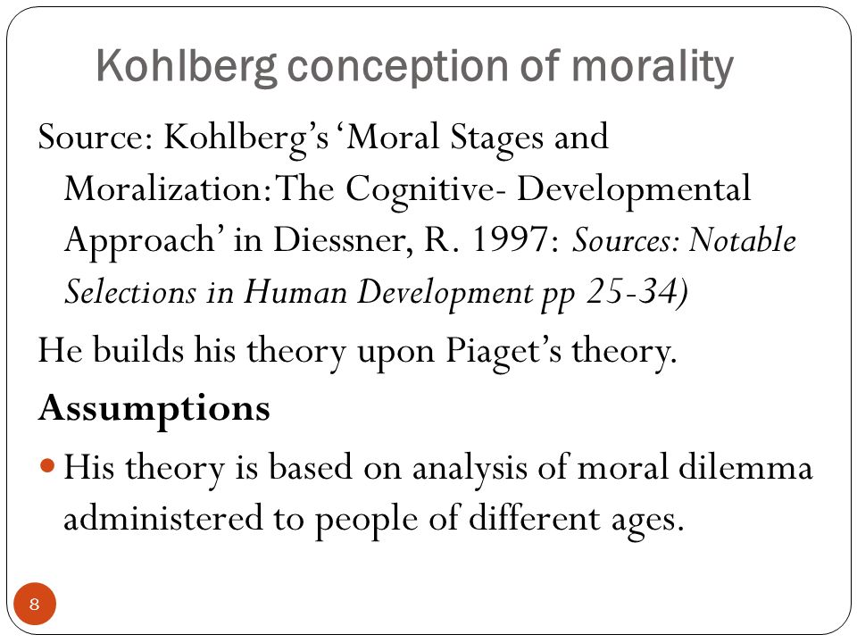 Kohlberg conception of morality