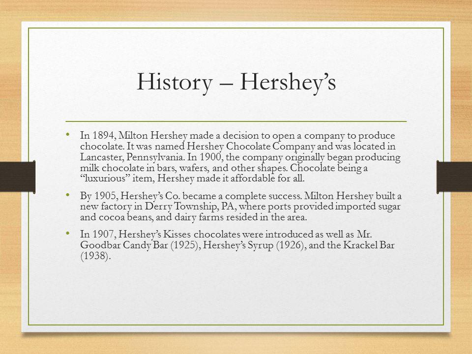 hershey foods corporation case study