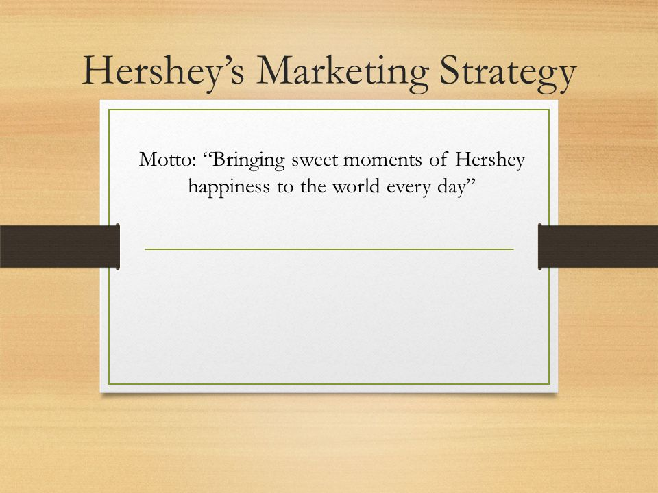 marketing mix of hershey Then, hershey's entry to the australian market with a new product is proposed by providing and commenting on swot analysis, competition environment, accounting-finance indicators, marketing strategy and marketing mix (4p) factors.