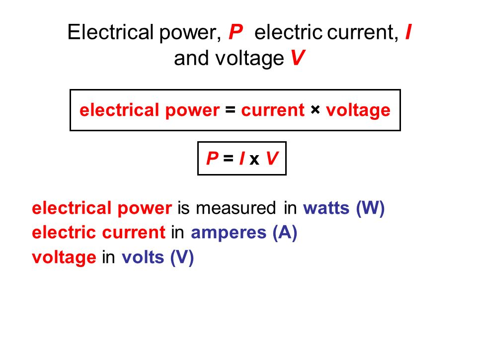 how to find current from watts and voltage
