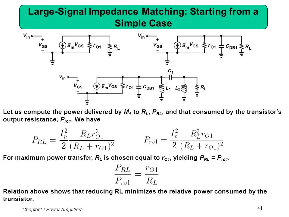 Chapter 12 Power Amplifiers - ppt download