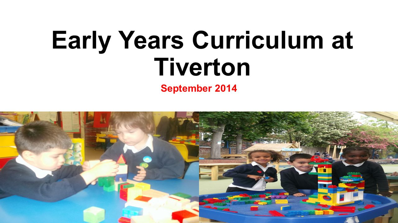 Early Years Curriculum at Tiverton