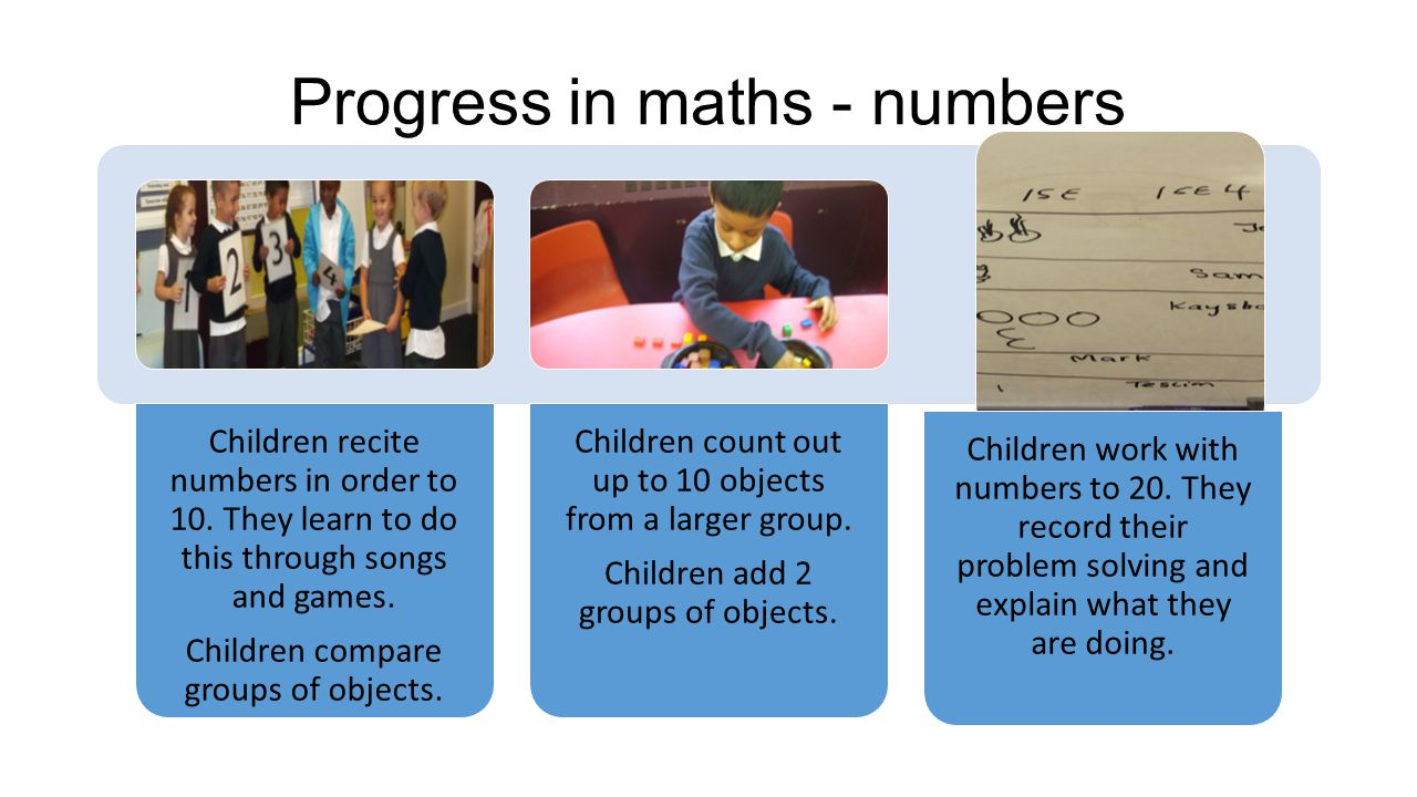 Progress in maths - numbers