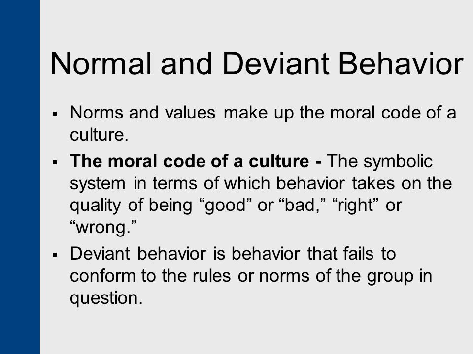 psychological theories of deviance