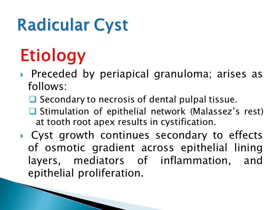 All about pathology outlines odontogenic cysts periapical.