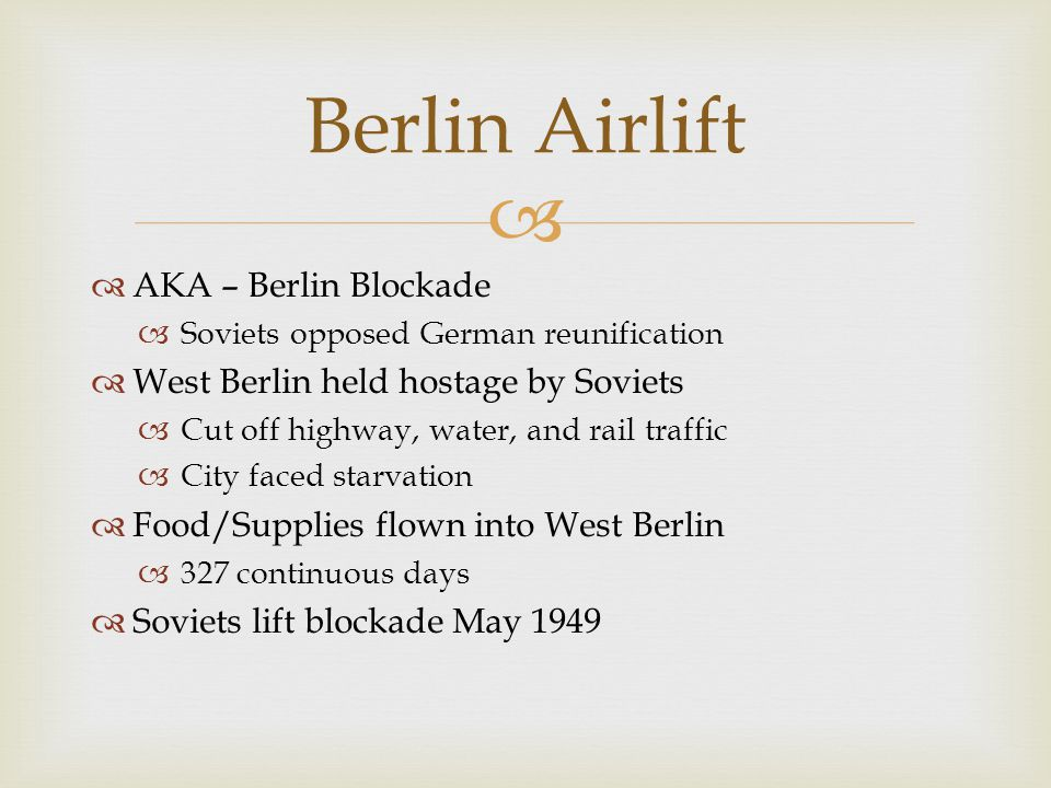 Berlin Airlift AKA – Berlin Blockade