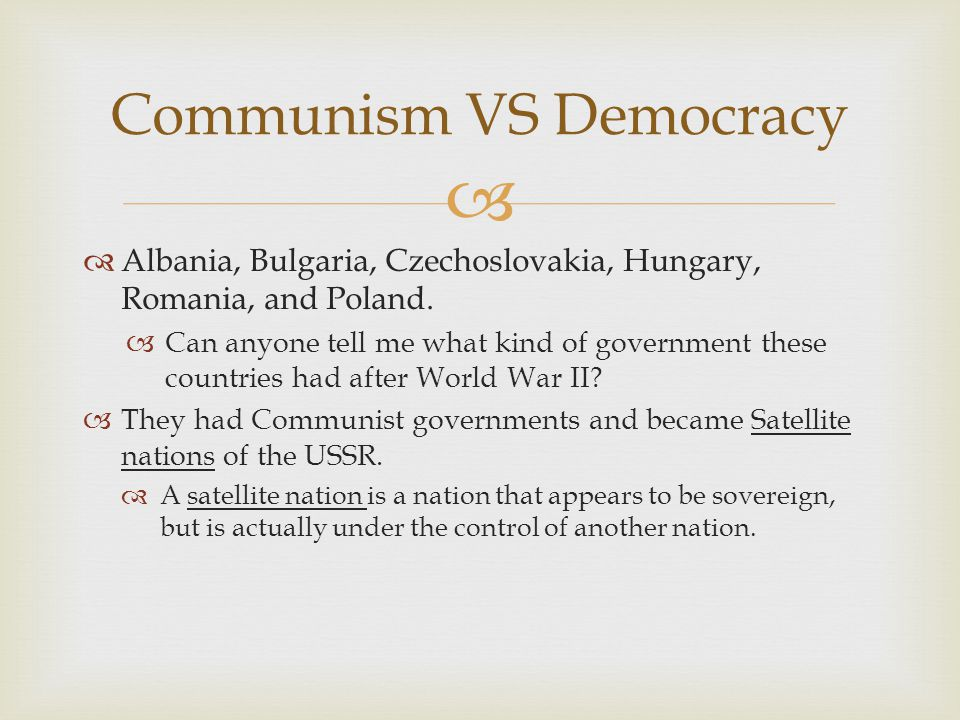 Communism VS Democracy