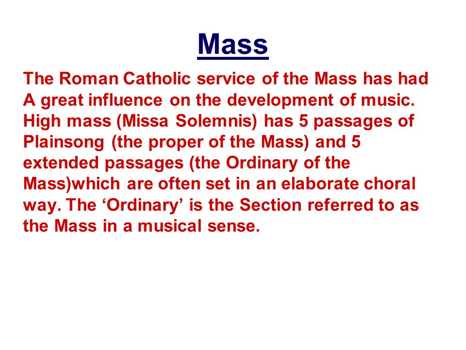 What are the five section of the ordinary of the mass