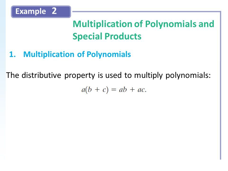 how to find special products of polynomials