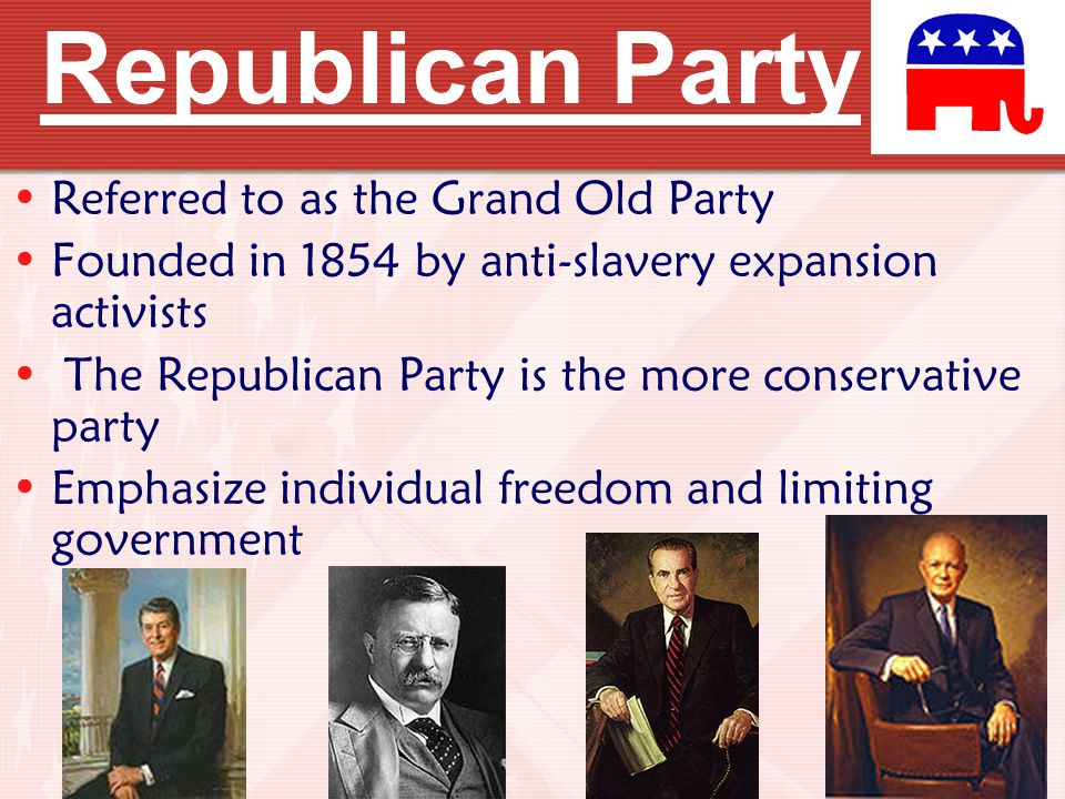 Republican Party Referred to as the Grand Old Party