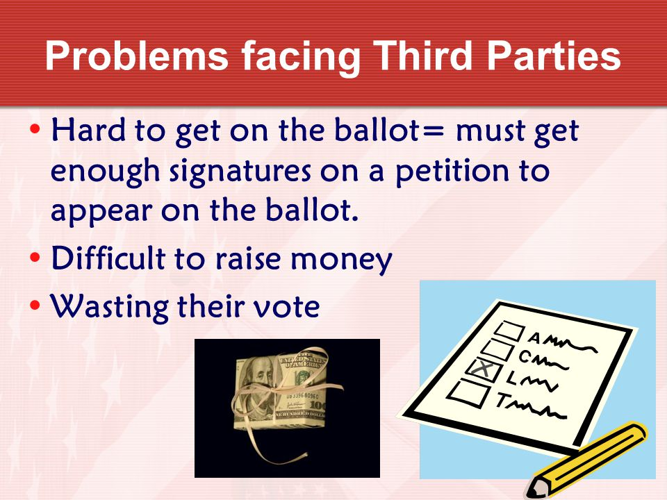 Problems facing Third Parties