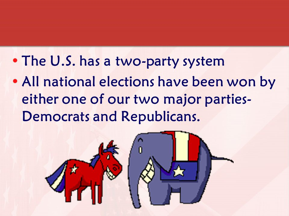 The U.S. has a two-party system