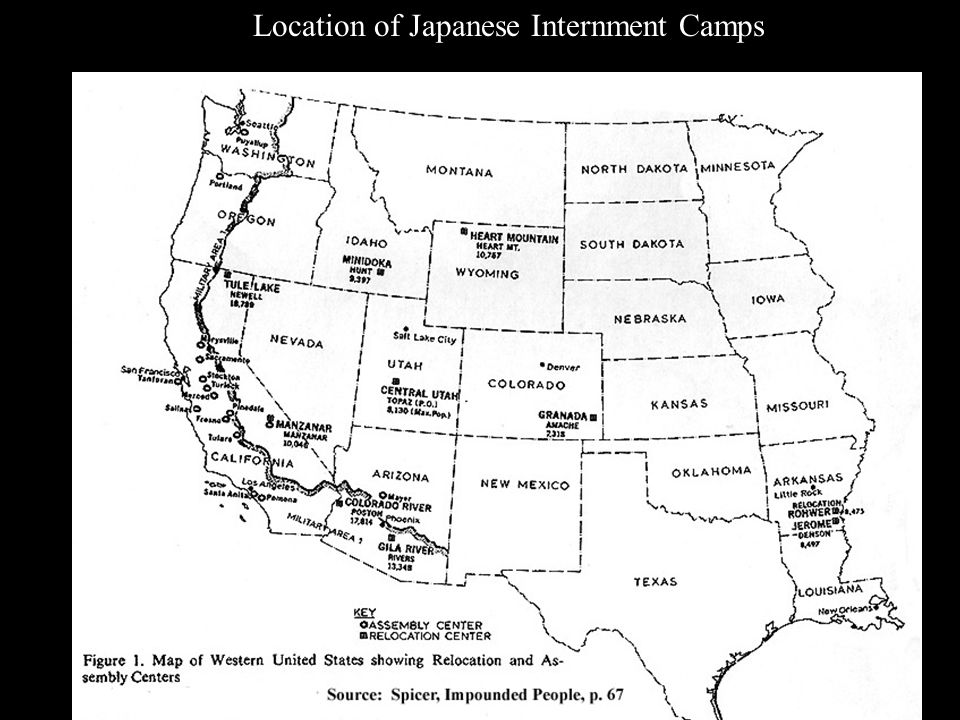 Japanese Internment Vs The Holocaust Ppt Download - Map-of-japanese-internment-camps-in-us