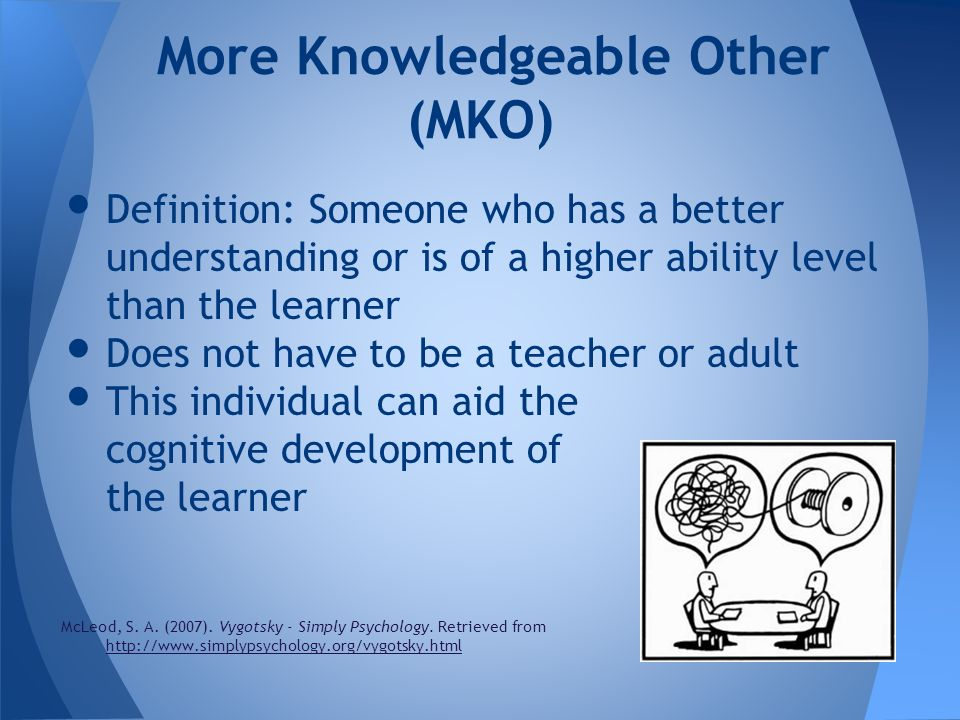More Knowledgeable Other (MKO)